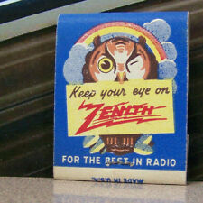 Vintage Matchbook G7 Circa 1940 Washington Kirkland Zenith Owl Radio Bryant Eye
