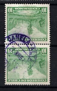 CHILE small town cancel CANELA ALTA on pair