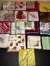 Lot of Vintage Floral Hankies