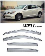 For 08-11 Honda Accord Sedan WellVisors Side Window Visors W/ Chrome Trim