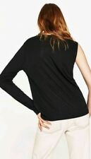 2017 Womens Zara Black Join Life One Long Sleeve T-Shirt Top M BNWT