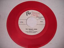 PROMO Dave Brubeck Quartet The Trolley Song 1952 45rpm VG++ RED VINYL