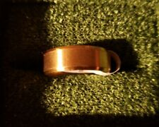 Stainless Steel  Men's Women's Ring Band Gold-toned  sz 10.25