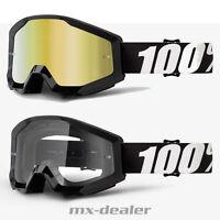 202 100 % Prozent Brille Strata Outlaw Schwarz Motocross Enduro Downhill Cross