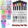 BORN PRETTY 8ml Fluorescent Stamping Gel Polish Holographic Nail Stamper Set Kit