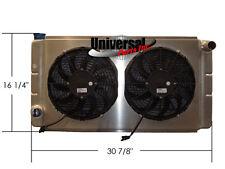 16X31 ALUMINUM RADIATOR W/ SHROUD & SPAL FANS SANDRAIL DUNE BUGGY FD 30100467