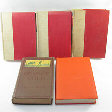 5 Zane Grey Hardcover Books Walter J Black Grosset Dunlap Collier 1918-1943