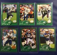 2002 Topps Collection NEW ENGLAND PATRIOTS Complete Team Set 11 TOM BRADY X 2 SB