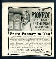 Black Americana ~ Black Lady Uses Monroe Refrigerator - Lockland Ohio