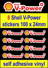 8 Shell V-Power sponsor stickers contour cut Racing Motorcycle bike car decals