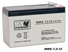 MW-Power AGM GEL Batterie MWS-7.2-12 VRLA 12V 7,2Ah (C20) ersetzt 7Ah 7,5Ah 9Ah