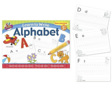 Tallon Learn to Write Your Letters (Alphabet) Children's Activity Book - Practice A4 Pad, Age 3 and Above (6897)