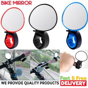 BICYCLE MIRROR BIKE SAFETY REAR VIEW Handlebar Plastic 360°Rotate UNIVERSAL 1PC