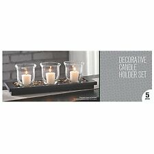 Decorative Candle Holder Set 3 Piece Kit Home Decor Long Table Centerpiece New