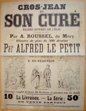 Affiche. Alfred Le Petit. Gros-Jean et son curé. Roussel de Mery. Vers 1880