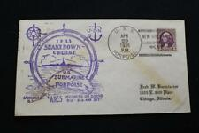 Naval Cover 1936 Ship Cancel Shakedown Cruise Uss Porpoise (Ss-172) (5862)