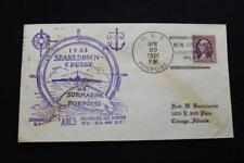 NAVAL COVER 1936 SHIP CANCEL SHAKEDOWN CRUISE USS PORPOISE (SS-172) (5862)