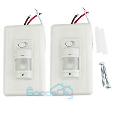2pcs Auto On/Off Infrared PIR Occupancy Vacancy Motion Sensor Light Lamp Switch