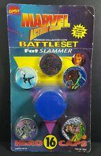 Marvel Action Hour Battle Set Fat Slammer Hero Caps Pogs