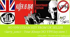 KILLER E'MORTO-NIGHTMARE EDITION chiave a vapore NO VPN REGIONE GRATIS UK Venditore