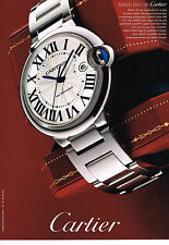 PUBLICITE ADVERTISING 114  2008  CARTIER  collection montre BALLON BLEU