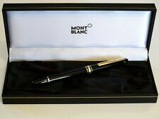 MONTBLANC MEISTERSTUCK 163 ROLLERBALL PEN IN BLACK WITH GOLD TRIM IN BOX - MINT
