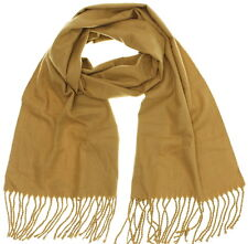 Croft & Barrow Unisex Men Women Camel Solid Super Soft Acrylic Fringed Scarf
