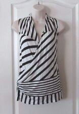 Peter Som For DesignNation Surplus  Stripe Wrap Top Women's Sz XS NWT MSRP$40