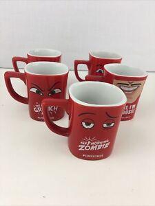 Nescafe Coffee Red Mug Coffee Cups X 5 Cheeky Mugs