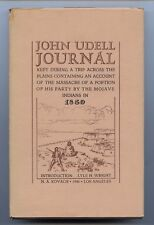 John Udell Journal 1946 Rare Rose-Baley Party Massacre Mojave Indians California