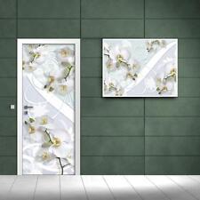 Vlies Tür Türfototapeten Fototapete      Straße   Weisse Orchidee   1611 VET