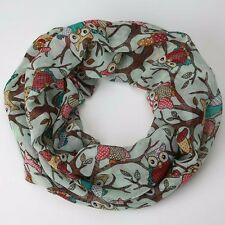 Fashion Scarf Women Ladies Owl Pattern Print Scarf Voile Warm Wrap Shawl