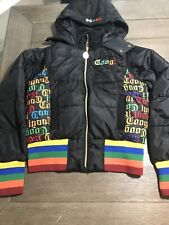 Vintage Coogi Womens Full Zip Hooded Bomber Bubble Puffer Jacket Size Medium
