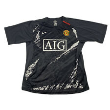 Nike Fit Dry Manchester United Gray Short Sleeve 90 Soccer Jersey Size Medium