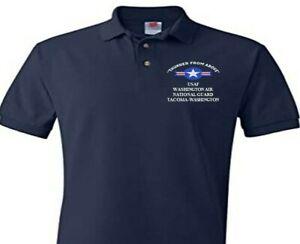 WASHINGTON AIR NATIONAL GUARD TACOMA USAF EMBROIDERED POLO SHIRT/SWEAT/JACKET.