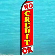 NO CREDIT OK FLUTTER FEATHER FLAG Swooper Tall Vertical Advertising Sign Banner