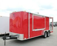 NEW 7x21 7 X 21 Enclosed Concession Food Vending BBQ Porch Trailer * MUST SEE *