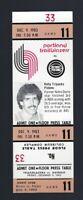 VINTAGE 1983-1984 NBA PISTONS @ TRAILBLAZERS FULL TICKET - KELLY TRIPUCKA