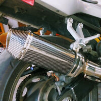 38-51MM Motorcycle Carbon fiber Color Exhaust Muffler With Removable DB Killer