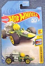 2018 Hot Wheels #14 Legends of Speed 1/10 HEAD STARTER Green w/Yellow 5 spoke