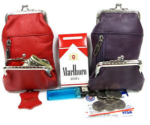 3 Pocket 100% Leather Cigarette Case+Coin Pouch Combo Get 2pc/2Color 100s King