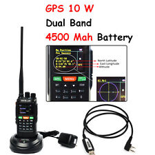 Walkie Talkie 10W GPS Dual Band VHF UHF Long Range VOX 2 Way Ham Radio highpower