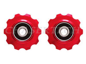 MTB Road Classic Bike Rear Derailleur Jockey Wheel Pulley 10T 6mm Red
