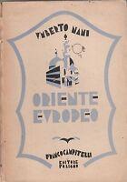 U. Nani Oriente europeo Cippitelli editore Foligno 1930 L5913