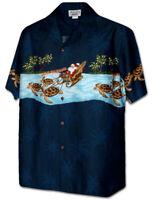 Pacific Legend Santa Christmas Mali Kalikimaka Turtles Hawaiian Shirt 440-3918