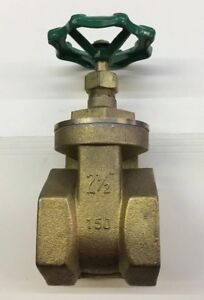 "2 1/2"" Gate Valve Brass Threaded 150 WOG - CWP  Female"