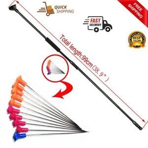 Hunting Blowgun 20pcs Metal Needles Foam Comfort Grip Archery M50 Black Junction
