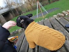 Design French Bulldog M Jacket Frenchie Jumper Puppy Winter Coat cable knit