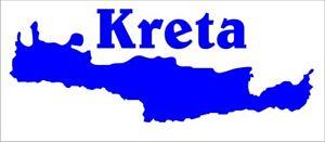 Aufkleber der Insel Kreta, Griechenland, aus hochwertiger Folie geschnitten.