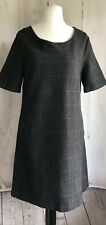 Ladies White Stuff Size 14 Grey Checked Dress Fully Lined With Pockets